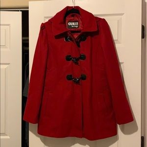 Red guess coat